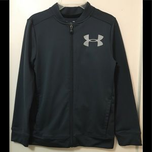 Under Armour Boy's Gray loose fit full Zip Jacket